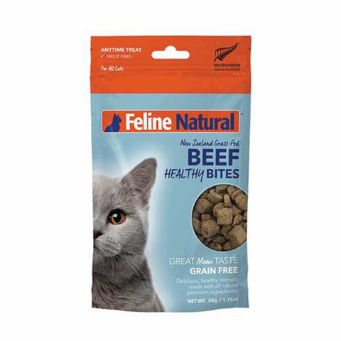 <b>Feline Natural</b><br>Beef Healthy Bites<br><br>1.76 oz  - 50g