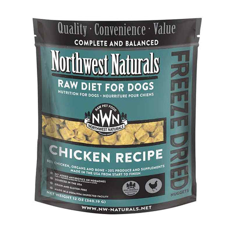 <b>Northwest Naturals</b><br>Freeze Dried Chicken Recipe Dog<br>340g - 12 oz