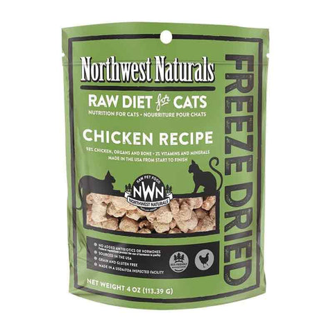 <b>Northwest Naturals</b><br>Freeze Dried Chicken Recipe Cat<br>4oz - 11oz