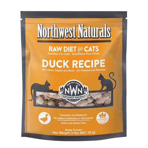 <b>Northwest Naturals</b><br>Raw Duck Recipe Cat<br><br>2lb