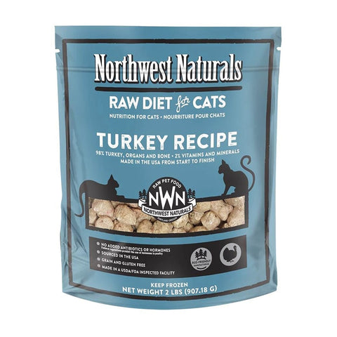 <b>Northwest Naturals</b><br>Raw Turkey Recipe Cat<br><br>2lb