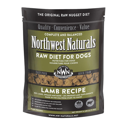 <b>Northwest Naturals</b><br>Raw Lamb Recipe Dog<br><br>6lb
