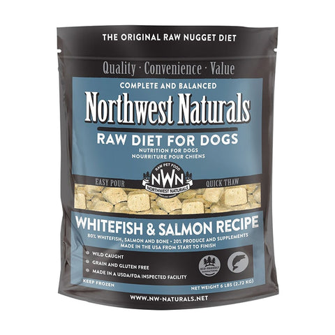 <b>Northwest Naturals</b><br>Raw Whitefish and Salmon Recipe Dog<br>6lb