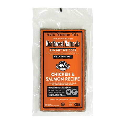 <b>Northwest Naturals</b><br>Raw Chicken and Salmon Recipe Dog<br>1lb - 6lb