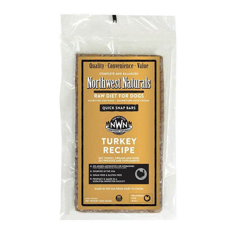 <b>Northwest Naturals</b><br>Raw Turkey Recipe Dog<br><br>1lb - 6lb