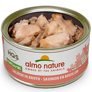 <b>Almo Nature Natural</b><br>Salmon in broth<br><br>70gr - 2.46oz