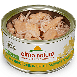 <b>Almo Nature Natural</b><br>Salmon and Chicken in broth<br>70gr - 2.46oz