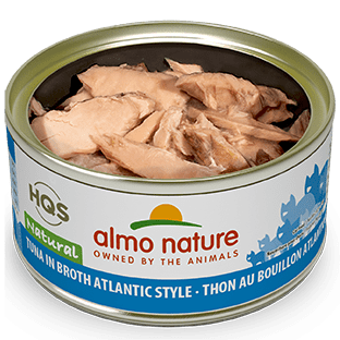 <b>Almo Nature Natural</b><br>Tuna in broth Atlantic style<br><br>70gr - 2.46oz