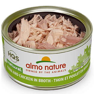 <b>Almo Nature Natural</b><br>Tuna and Chicken in broth<br><br>70gr - 2.46oz