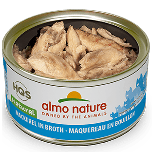<b>Almo Nature Natural</b><br>Mackerel in broth<br><br>70gr - 2.46oz
