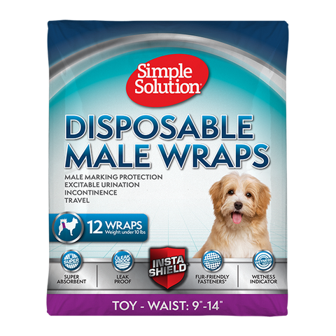<b>Simple Solution</b><br>Disposable Male Wrap<br>XS to L - 12 pkg<br><br>