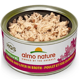 <b>Almo Nature Natural</b><br>Chicken and Liver in broth<br>70gr - 2.46oz