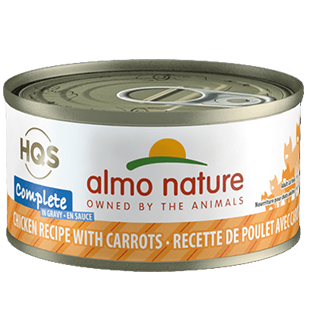 <b>Almo Nature Complete</b><br>Chicken Recipe with Carrots in Gravy<br>70gr - 2.46oz