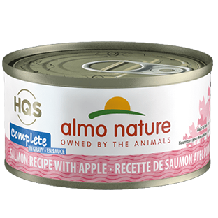 <b>Almo Nature Complete</b><br>Salmon Recipe with Apple in Gravy<br>70gr - 2.46oz