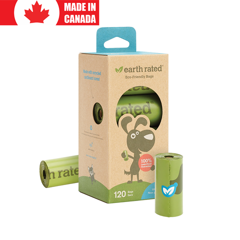 <b>Earth Rated</b><br>Unscented Refill Bags<br>8 Rolls - 120 Bags