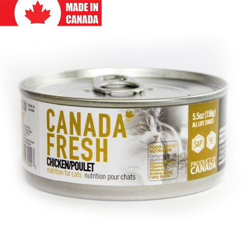 <b>Canada Fresh</b><br>Chicken Formula Cat<br><br>5.5oz - 13oz