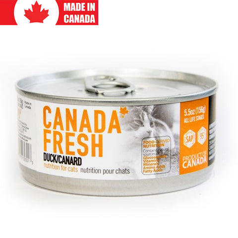<b>Canada Fresh</b><br>Duck Formula Cat<br><br>5.5oz - 13oz