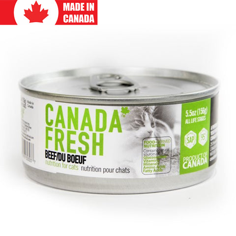 <b>Canada Fresh</b><br>Beef Formula Cat<br><br>5.5oz - 13oz