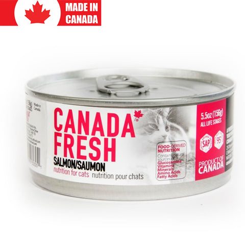 <b>Canada Fresh</b><br>Salmon Formula Cat<br><br>5.5oz - 13oz