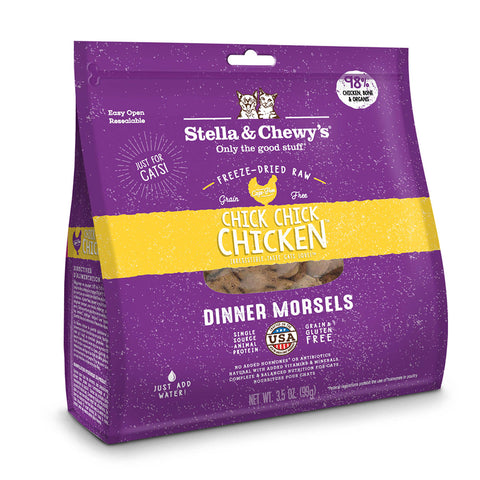 <b>Stella & Chewy's</b><br>Chick, Chick Chicken Freeze-Dried Raw Morsels<br>3.5oz - 18oz
