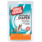 <b>Simple Solution</b><br>Washable Female Diaper<br>XS to XL<br><br>