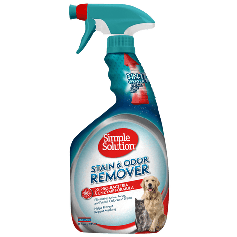 <b>Simple Solution</b><br>Stain & Odor Remover Spray<br>946 ml / 32 oz