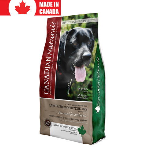 <b>Canadian Naturals</b><br>Lamb & Brown Rice Recipe<br><br>5lb - 25lb