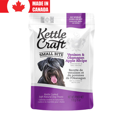 <b>Kettle Craft</b><br>Venison & Okanagan Apple<br><br>6oz - 12oz