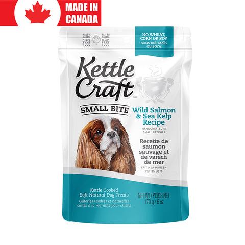 <b>Kettle Craft</b><br>Wild Salmon & Sea Kelp<br><br>6oz - 12oz