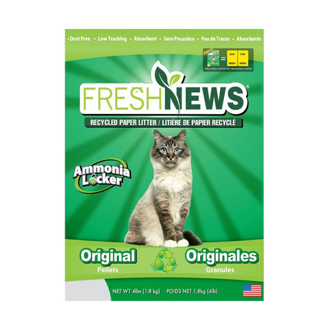 <b>Fresh News</b><br>Recycled Paper Litter<br><br>1.8kg - 11.3kg