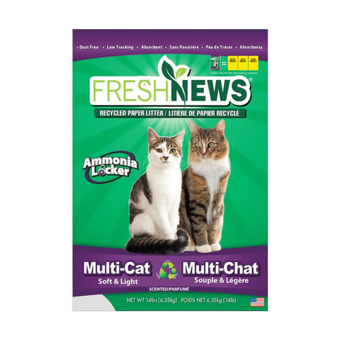 <b>Fresh News</b><br>Recycled Paper Litter Multi Cat<br>6.36kg - 14lb