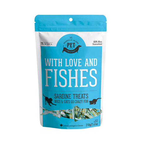<b>Grandville Island Pet Treat</b><br>Pure Protein Dried Sardines<br><br>1.8oz - 7.4oz