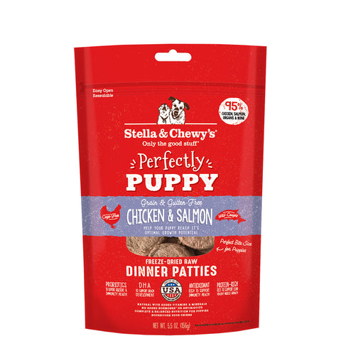 <b>Stella & Chewy's</b><br>Chicken & Salmon Puppy Patties<br>5.5oz - 25oz
