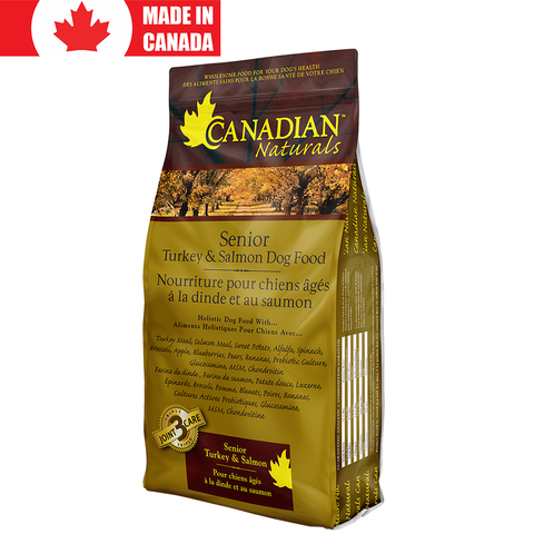 <b>Canadian Naturals</b><br>Turkey & Salmon Recipe Senior<br>5lb - 30lb