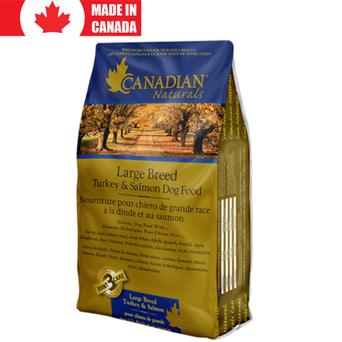 <b>Canadian Naturals</b><br>Large Breed Turkey & Salmon Recipe<br>15lb - 30lb