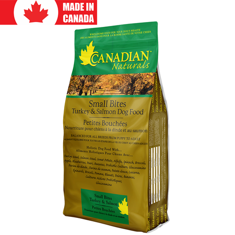 <b>Canadian Naturals</b><br>Turkey & Salmon Small Bites Recipe<br>5lb - 30lb