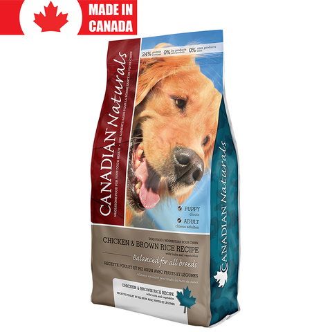 <b>Canadian Naturals</b><br>Chicken & Brown Rice Recipe<br>5lb - 30lb
