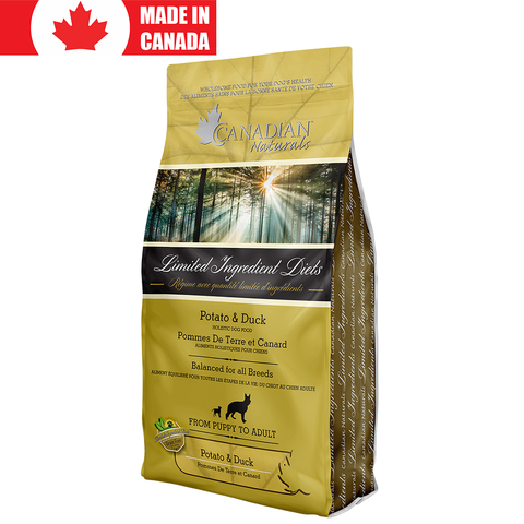 <b>Canadian Naturals</b><br>Potato and Duck Formula<br><br>5lb - 25lb