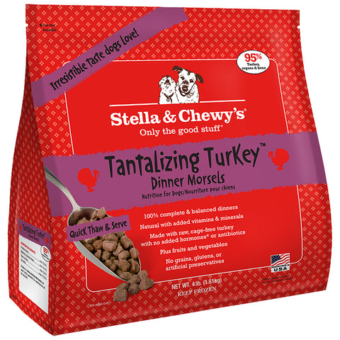 <b>Stella & Chewy's</b><br>Tantalizing Turkey Frozen Raw Dinner Morsels<br> 4lb