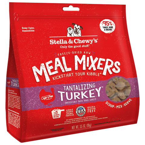 <b>Stella & Chewy's</b><br>Tantalizing Turkey Meal Mixers<br>3.5oz - 18oz