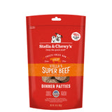 <b>Stella & Chewy's</b><br>Super Beef Freeze-Dried Raw Dinner Patties<br>5.5oz - 25oz