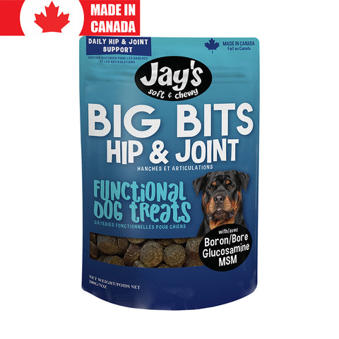 <b>Jay's</b><br>Big Bits Hip & Joint Pork<br>7oz - 16oz