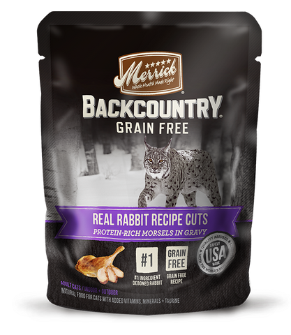 <b>Merrick</b><br>Backcountry Grain Free Real Rabbit Recipe Cuts<br>85g - 3oz