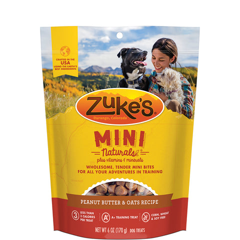 <b>Zuke's</b><br>Mini Naturals Peanut Butter & Oats Recipe<br>170g - 454g