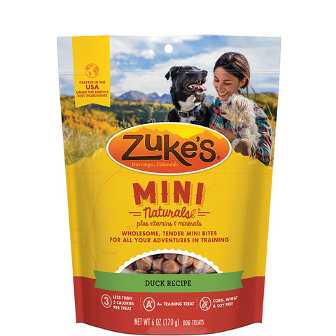<b>Zuke's</b><br>Mini Naturals Duck Recipe<br>170g - 454g<br><br>