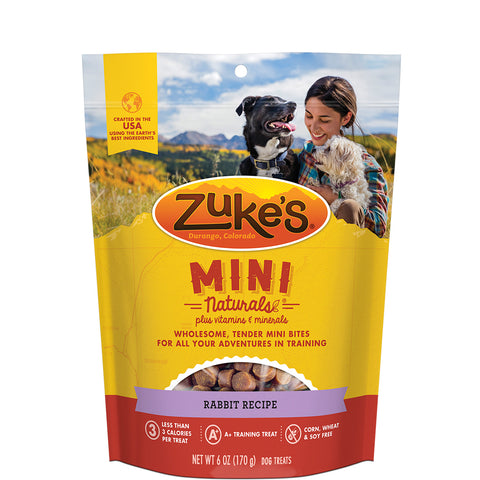 <b>Zuke's</b><br>Mini Naturals Rabbit Recipe<br><br>170g - 454g