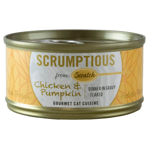 <b>Scrumptious</b><br>Chicken & Pumpkin Flaked<br><br>2.8oz - 80g