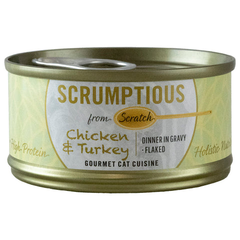 <b>Scrumptious</b><br>Chicken & Turkey Flaked<br>2.8oz - 80g