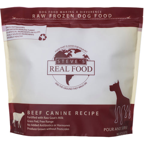 <b>Steve Real Food</b><br>Beef Raw Diet<br><br>5lb - 13.5lb
