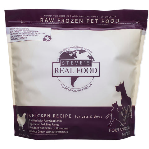 <b>Steve Real Food</b><br>Chicken Raw Diet <br><br>5lb - 13.5lb